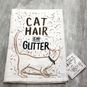 """PRIMITIVES by Kathy """"Cat Hair Glitter"""" Dish Towel"""